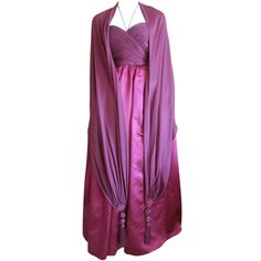 via BKLYN contessa :: Oscar de la Renta silk and cashmere gown with longcashmere wrap