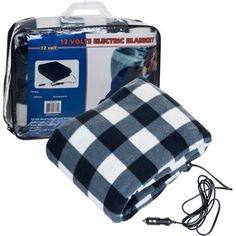 Trademark Plaid Electric Blanket for Automobile - 12 volt