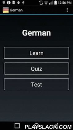 "German  Android App - playslack.com ,  Based on psychological research, this app combines recognition, quick-thinking, andspaced repetition to simulate standardized tests and expediteoverall vocabulary development. Your knowledge will expand if you use this app well. Thus, this app offers:• a learn function• multiple choice quizzes• succinct synonyms• a timer• a rating bar• a ""review missed"" function• and a study scheduleDownload the app now to start improving your mind! This app is ad…"