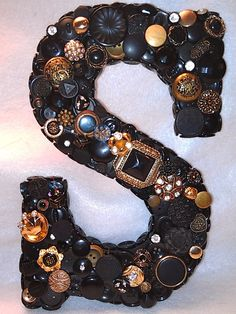 """Button Initial """"S"""" - Custom Initials are Available. $30.00, via Etsy."""