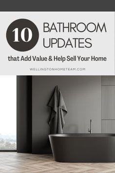 Easy Bathroom Updates, Simple Bathroom, Modern Bathroom, Real Estate Articles, Real Estate Information, Home Selling Tips, Selling Your House, Bathroom Designs, Bathroom Ideas