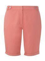 Womens Pink Knee Length Shorts- Pink