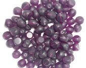 25 8mm x 9mm round deep purple table cut German glass beads. For sale at:https://www.etsy.com/listing/197065311/25-8mm-x-9mm-round-deep-purple-table-cut?ref=shop_home_active_2