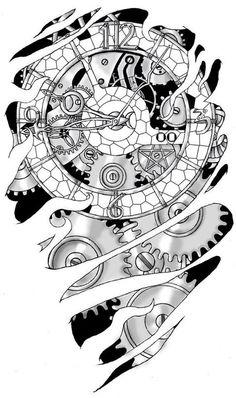 Эскизы татуировок- Биомеханика и Органика | 83 фотографії