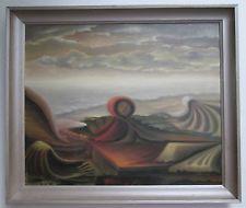 VINTAGE OIL Painting Listed Polish Artist. M.Luszczynski.