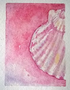 seashell - watercolor mini painting by Cynthia Maniglia