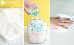 Préparez des lingettes nettoyantes réutilisables et super efficaces sur toutes les surfaces