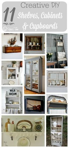 Repurposed Drawers and Crates for Craft Supplies - Knick of Time