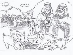Prodigal Son coloring page.   Sunday School Coloring Pages- Bible ...