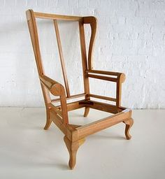 frame for a wingback chair frames for upholstery pinterest selbst bauen m bel selber. Black Bedroom Furniture Sets. Home Design Ideas