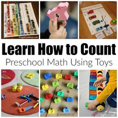 There are so many fun ways that toddlers and preschoolers can learn with toys. Here's a collection you can do at home or in the classroom.