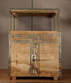 Wooden canopic chest of Senbi  This chest was used to place the canopic jars in, these jars contained the four removed organs from the mummified body of Senbi.  Egyptian  Found in Middle Egypt, Meir, Tomb of Senbi  Middle Kingdom, 12th dynasty, 1981 – 1802B.C.  Source: The Metropolitan Museum