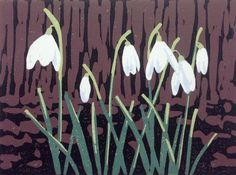 Buy A Promise of Snowdrops, Linocut by Alexandra Buckle on Artfinder. Discover thousands of other original paintings, prints, sculptures and photography from independent artists. Lily Painting, Spring Painting, Water Reflections, Neutral Colors, Flower Art, Printmaking, Contemporary Art, Original Paintings, Sculptures