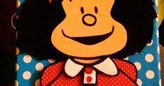208b17341 Caja de cartón decorada con Mafalda de goma eva. Caja decorada. Mafalda.  Mafalda