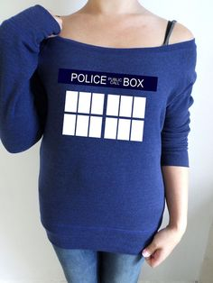 Another slouch sweatshirt for the Dr.Who fans, this time based on the outside of the Tardis. Using a Navy blue slouch sweatshirt Ive printed the