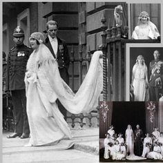 *QUEEN MUM ~ On this day the marriage of Lady Elizabeth Bowes Lyon (later the 'Queen Mother') to the Duke of York (later King George VI) at Westminster Abbey in London. It was the first royal wedding in the Abbey since 1383 Royal Wedding Gowns, Royal Weddings, Wedding Dress, George Vi, Elizabeth Ii, Die Queen, Royal Brides, Queen Of England, Queen Mother