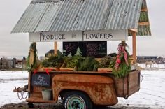 For many years now, I have dreamed of having a little farm stand to sell excess from my garden. A few months ago, I was reading two of my. Flower Truck, Flower Cart, Fairview Farms, Vegetable Stand, Farm Store, Cottage Garden Design, Fruit Stands, Market Garden, Christmas Tree Farm