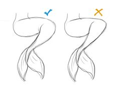 SarahCulture — How to draw Mermaids for MerMay coming up next. Mermaid Drawings, Mermaid Art, How To Draw Mermaid, Anime Mermaid, Cool Art Drawings, Art Drawings Sketches, Easy Drawings, Art Reference Poses, Drawing Reference