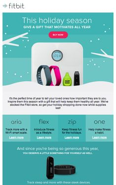 Fitbit holiday email marketing inspiration