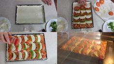 Tarta caprese, una tartas salada deliciosa, para comer en caliente, templada o fría... la podéis ver en mi blog Julia y sus recetas.