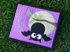 Owl mug mat, sweet-sweet-sweet, from scrapnchick.  I just adore purple for Halloween! http://scrapnchick-keepmeinstitches.blogspot.com/