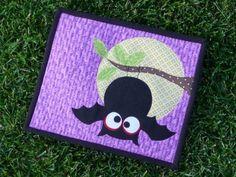 Owl mug mat, sweet-sweet-sweet, from scrapnchick.  I just adore purple for Halloween! http://scrapnchick-keepmeinstitches.blogspot.com/