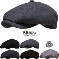 16f20ca686c Cabbie Newsboy Gatsby Cap Mens Ivy Hat Golf Driving Winter Cold Flat  Applejack  KBETHOS