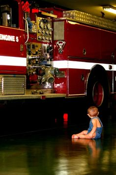 Baby loving the fire station! krista_hale