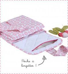 Tapis à langer de voyage rose Lovely Emilie | Little Crevette - 25 €