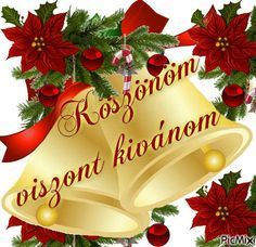 Köszönöm viszont kívánom. Love Deeply, Love Images, Cool Pictures, Christmas Bulbs, Table Decorations, Holiday Decor, Pink, Frases, Photos