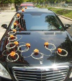 wedding car decoration  www.flora-com.com... wedding