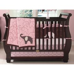 Pink elephant nursery!!  Love this for a little girl!!
