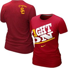 ed5758dc Nike USC Trojans Women's Fight On Tshirt Ultimate tailgate fanatics - I  have this one and love it