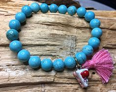 Bracelet en pierres semi précieuses, Bracelets, Turquoise Bracelet, Creations, Jewelry, Fashion, Stones, Bangle Bracelets, Jewlery, Fashion Styles