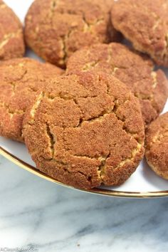 Thick and Soft Grain Free Snickerdoodles (gluten-free and paleo-friendly!)