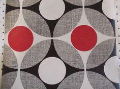 mod vintage wallpaper by grevilleavintage on Etsy 60s Wallpaper, Pattern Wallpaper, Retro Fabric, Vintage Fabrics, Fabric Patterns, Print Patterns, Textiles, Mid Century Art, Geometric Shapes