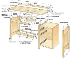 Office desk woodworking plans Porch swings The desk will be completely original FURNITURE WOOD WORK PLANS Best of all And Desk Plans and Home Office Furniture Plans Notebook Computer Woodworking Furniture Plans, Woodworking Workbench, Woodworking Projects Diy, Woodworking Magazine, Woodworking Classes, Wood Furniture, Woodworking Shop, Youtube Woodworking, Woodworking Joints
