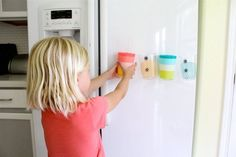 Great Idea: Magnet Fridge Cups for Kids — Apartment Therapy - The Kitchn