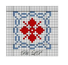 carre 22 Cross Stitch Heart, Counted Cross Stitch Patterns, Cross Stitch Geometric, Cross Stitch Freebies, Red Pattern, Palestine, Pin Cushions, Cross Stitching, Hand Embroidery