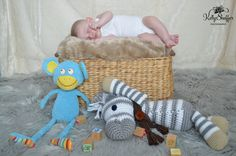 3 month wood blocks mini shoot baby