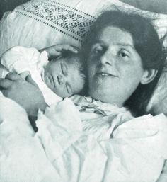 Paula Modersohn-Becker mit Tochter Mathilde, November 1907, Foto: Hugo Erfurth, Paula Modersohn-Becker-Stiftung