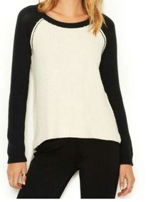 Black and white... Baseball tee like sweater/ jumper