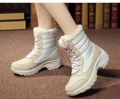 ZUNYU white winter boots women fashion snow boots new style women's sh – moflily Ankle Snow Boots, Warm Snow Boots, Snow Boots Women, Wedge Heel Boots, Shoe Boots, Women's Shoes, Top Shoes, Flat Shoes, White Winter Boots