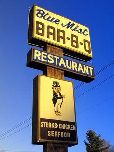 Blue Mist Bar-B-Q, Asheboro, NC by Dean Jeffrey, via Flickr