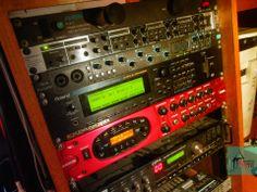 Recording Rack Equipment 1997 Vintage Synth Roland JV 2080 POD XT Pro Safire 40 Headphone Distributor Synthesizer Music, Vintage Synth, Digital Audio, Recording Studio, Tv On The Radio, Lights, Lighting, Light Fixtures, Rec Rooms