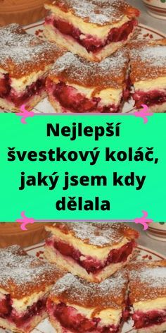 Czech Recipes, Graham Crackers, Sweet Recipes, A Table, Delicious Desserts, French Toast, Sweet Treats, Cheesecake, Deserts