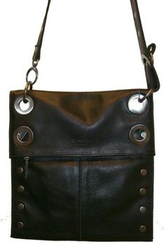 Hammitt Los Angeles   Black Leather Crossbody Bag With Antique Nickel  Hardware Strap Can Be Shortened 0c52ad0bb0f7e