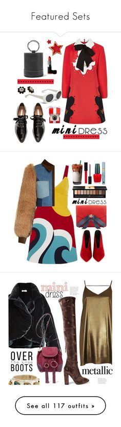"""""""Featured Sets"""" by polyvore ❤ liked on Polyvore featuring VIVETTA, Simon Miller, H&M, Kate Spade, outfit, shoes, ootd, minidress, RED Valentino and Sonia Rykiel"""