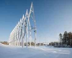 Virkkunen & Co designs sculptural substation and pylons in Finland.