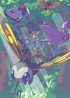 Butterfree & Beautifly & Masquerain & Venomoth & Mothim & Dustox